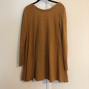 Free People mustard/rust tunic, size XS/S